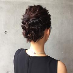 女子会 結婚式 涼しげ エレガント ヘアスタイルや髪型の写真・画像