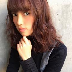 ゆるふわ ガーリー 大人かわいい ミディアム ヘアスタイルや髪型の写真・画像