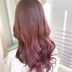 ガーリー トリートメント ピンクベージュ 銀座美容室 ヘアスタイルや髪型の写真・画像