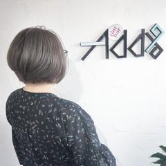 ショートボブ ミニボブ ショートヘア アッシュベージュ ヘアスタイルや髪型の写真・画像