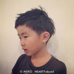 子供 メンズ ストリート 黒髪 ヘアスタイルや髪型の写真・画像