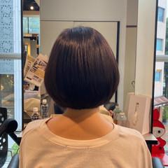似合わせカット 内巻き 大人可愛い ミニボブ ヘアスタイルや髪型の写真・画像