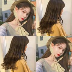 アンニュイほつれヘア オフィス デート セミロング ヘアスタイルや髪型の写真・画像