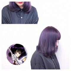 個性的 モード ショート パープル ヘアスタイルや髪型の写真・画像