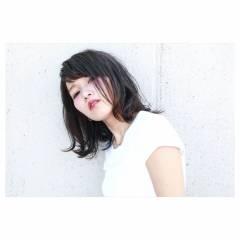 モード アッシュ 外国人風カラー ミディアム ヘアスタイルや髪型の写真・画像