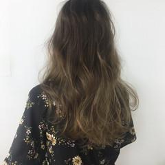 ストリート アンニュイ グラデーションカラー ロング ヘアスタイルや髪型の写真・画像