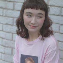 ストリート ゆるふわ 外国人風 ミディアム ヘアスタイルや髪型の写真・画像