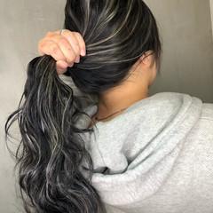 ストリート ハイライト グラデーションカラー バレイヤージュ ヘアスタイルや髪型の写真・画像