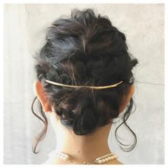 フェミニン まとめ髪 大人かわいい 結婚式 ヘアスタイルや髪型の写真・画像