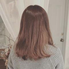 フェミニン グラデーションカラー セミロング ゆるふわ ヘアスタイルや髪型の写真・画像