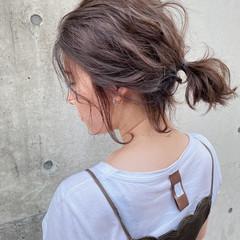 ハイライト ナチュラル ボブ 切りっぱなしボブ ヘアスタイルや髪型の写真・画像