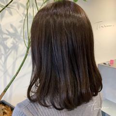 デジタルパーマ ワンカールパーマ ナチュラル ミディアム ヘアスタイルや髪型の写真・画像