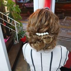 ヘアアレンジ ロング エレガント 簡単ヘアアレンジ ヘアスタイルや髪型の写真・画像