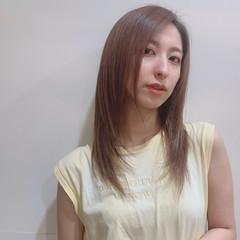 ナチュラル 髪質改善トリートメント ミディアム 髪質改善カラー ヘアスタイルや髪型の写真・画像