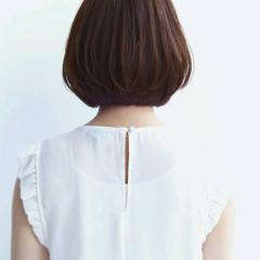 外国人風 黒髪 大人かわいい ボブ ヘアスタイルや髪型の写真・画像