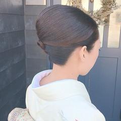 和装ヘア 夜会巻 着物 ヘアセット ヘアスタイルや髪型の写真・画像