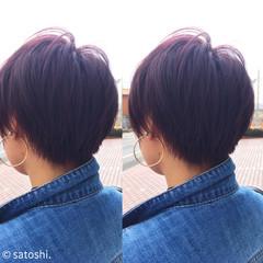 ショート ストリート 坊主 イルミナカラー ヘアスタイルや髪型の写真・画像
