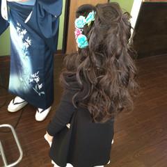 ロング ガーリー 子供 学校 ヘアスタイルや髪型の写真・画像