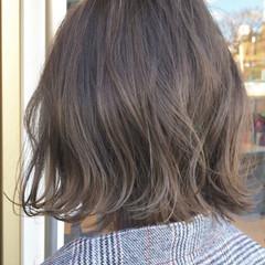 外国人風 切りっぱなし 透明感 ボブ ヘアスタイルや髪型の写真・画像