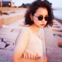ボブ 外国人風 センターパート パンク ヘアスタイルや髪型の写真・画像