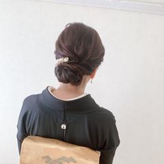 ミディアム 留袖 着物 黒留袖 ヘアスタイルや髪型の写真・画像
