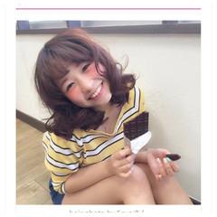 大人かわいい ゆるふわ 外国人風 ブラウン ヘアスタイルや髪型の写真・画像