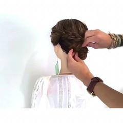 簡単ヘアアレンジ デート ボブ ヘアアレンジ ヘアスタイルや髪型の写真・画像