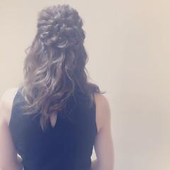 ヘアアレンジ ミディアム 二次会 結婚式 ヘアスタイルや髪型の写真・画像