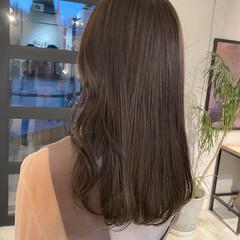 ベージュ ベージュカラー ミディアム アッシュグレージュ ヘアスタイルや髪型の写真・画像