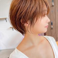 アンニュイほつれヘア ハンサムショート ショート ショートボブ ヘアスタイルや髪型の写真・画像