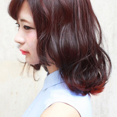 ピンク ガーリー ヘアアレンジ インナーカラー ヘアスタイルや髪型の写真・画像