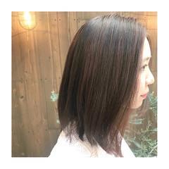 ゆるナチュラル ナチュラルブラウンカラー ミディアム 大人ハイライト ヘアスタイルや髪型の写真・画像