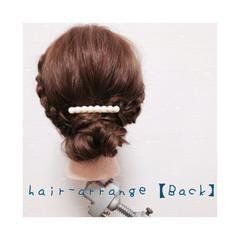 セミロング 三つ編み ショート 簡単ヘアアレンジ ヘアスタイルや髪型の写真・画像