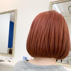 アンニュイ ミニボブ 透明感 ダブルカラー ヘアスタイルや髪型の写真・画像