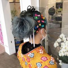 ヘアアレンジ 簡単ヘアアレンジ ガーリー ミディアム ヘアスタイルや髪型の写真・画像