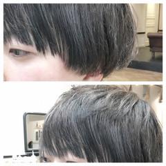 外国人風 アッシュ ショート 小顔 ヘアスタイルや髪型の写真・画像