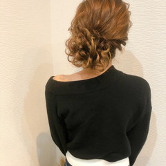 フェミニン ヘアアレンジ アップスタイル アップ ヘアスタイルや髪型の写真・画像