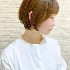 ショートヘア 大人かわいい ナチュラル ショートボブ ヘアスタイルや髪型の写真・画像