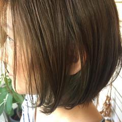 ボブ 外国人風カラー 艶髪 透明感 ヘアスタイルや髪型の写真・画像