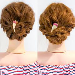 デート 大人かわいい オフィス 簡単ヘアアレンジ ヘアスタイルや髪型の写真・画像