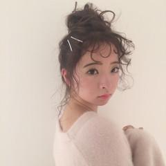 アンニュイほつれヘア ヘアアレンジ ミディアム デート ヘアスタイルや髪型の写真・画像