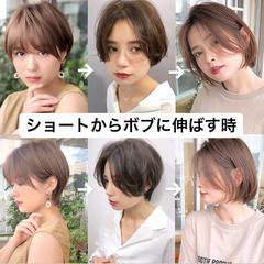 丸みショート ショート ハンサムショート ナチュラル ヘアスタイルや髪型の写真・画像