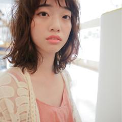 外国人風 大人かわいい ミディアム パーマ ヘアスタイルや髪型の写真・画像