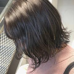 ミニボブ ボブ ナチュラル アッシュベージュ ヘアスタイルや髪型の写真・画像