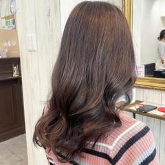 グレージュ ショコラブラウン 透明感カラー ピンクベージュ ヘアスタイルや髪型の写真・画像