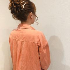 お団子アレンジ アップ ロング アップスタイル ヘアスタイルや髪型の写真・画像
