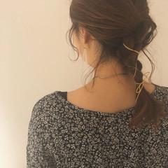 アンニュイほつれヘア デート ガーリー オフィス ヘアスタイルや髪型の写真・画像
