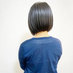 ショートボブ まとまるボブ ナチュラル ボブ ヘアスタイルや髪型の写真・画像