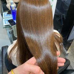 髪質改善トリートメント ロング 髪質改善カラー ストレート ヘアスタイルや髪型の写真・画像