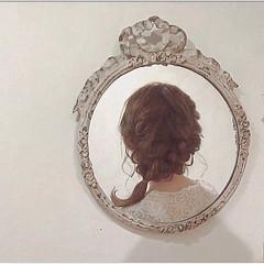 ヘアアレンジ フェミニン ミディアム ゆるふわ ヘアスタイルや髪型の写真・画像